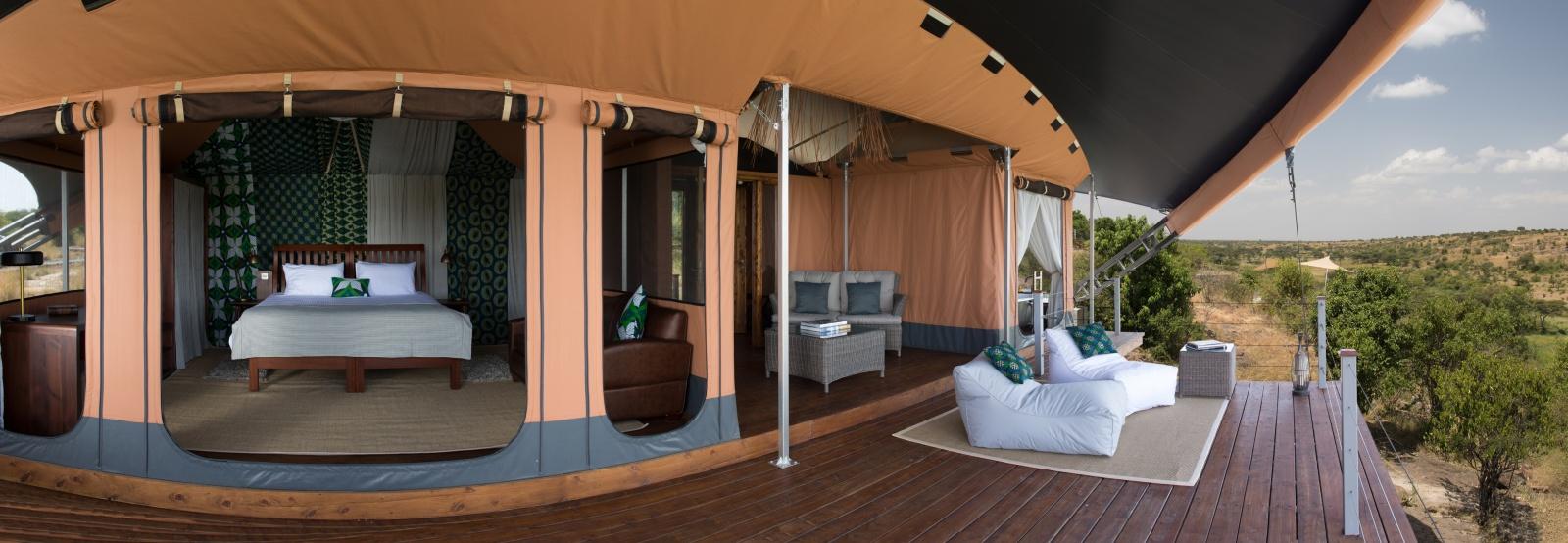 Интерьер палаточного номера отеля Mahali Mzuri