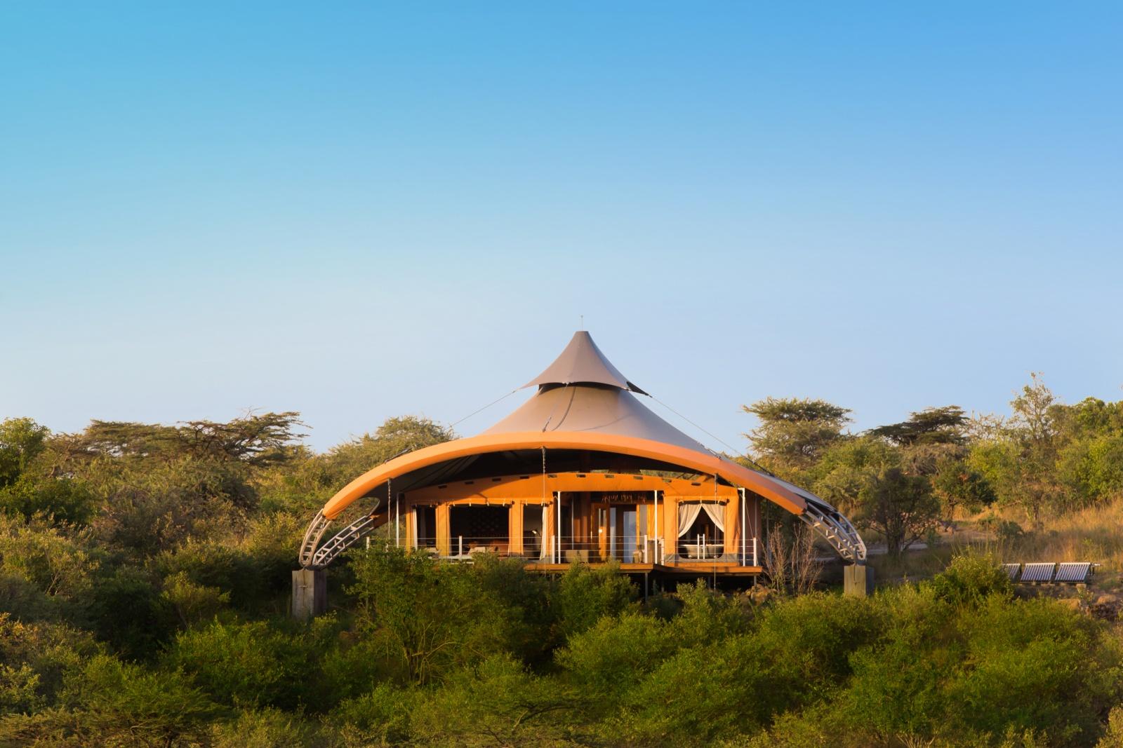 Внешний дизайн палаточного домика отеля Mahali Mzur
