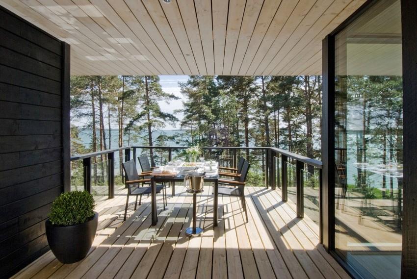 Дерзкий проект загородного дома со стеклянными стенами
