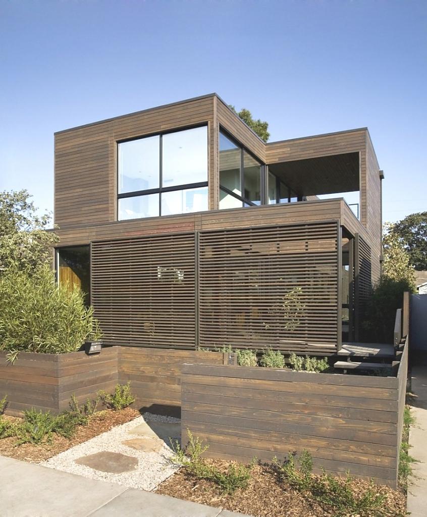 Простой дом в Калифорнии: стекло и дерево, уют и красота
