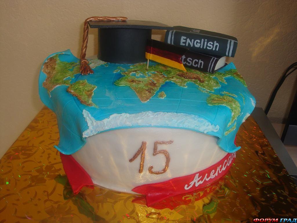 Торт на 15 лет мальчику своими руками 2