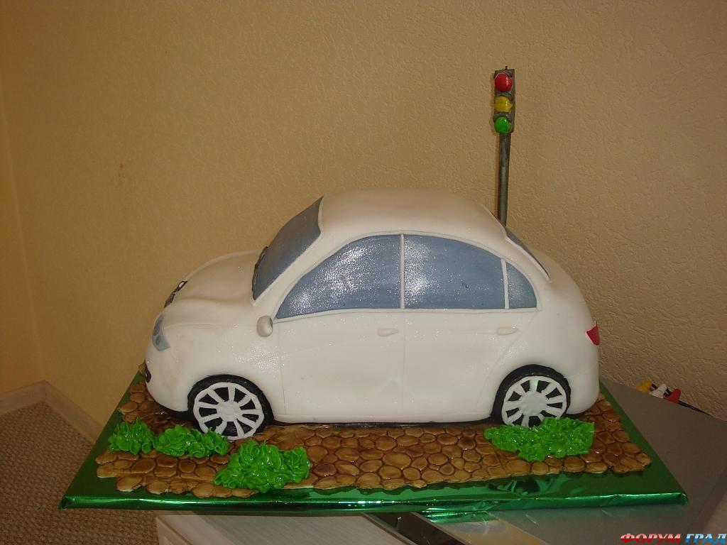 Торт формы машины своими руками 67