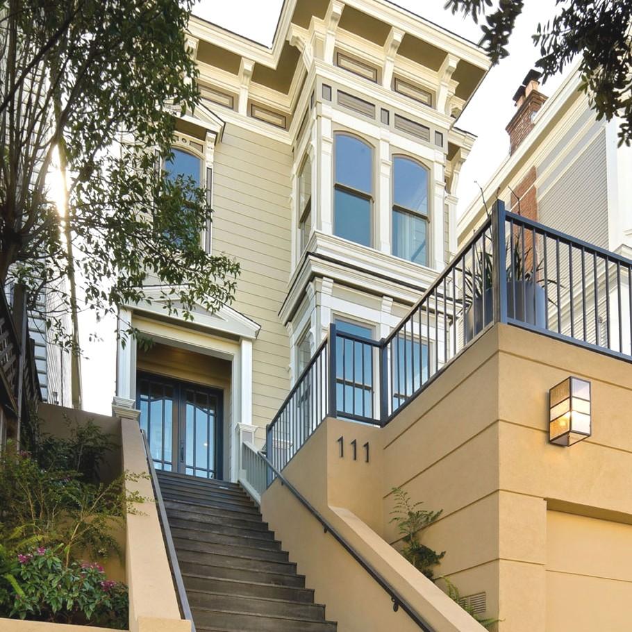 Дом в калифорнийском стиле Grand Victorian home с видом на Сан-Франциско