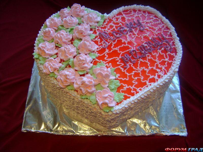 Как сделать торт в форме сердца