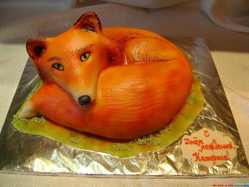 Как сделать лисичку из мастики на торт