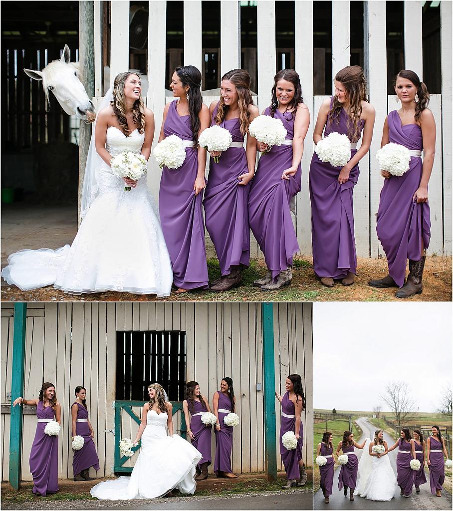 Фиолетовое платья для свидетельниц