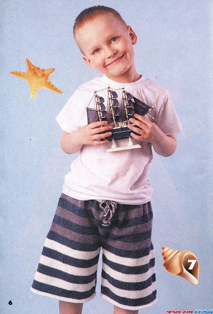 Вязание для детей. . Модели детских вязаных штанов, вязаных шорт и вязаных юбок спицами и крючком