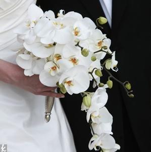 Свадебный букет из орхидей с