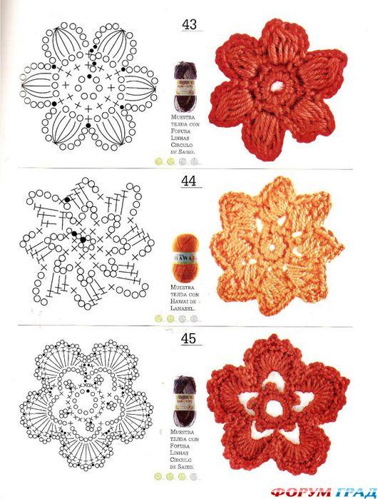 Ирландское кружево схемы цветы