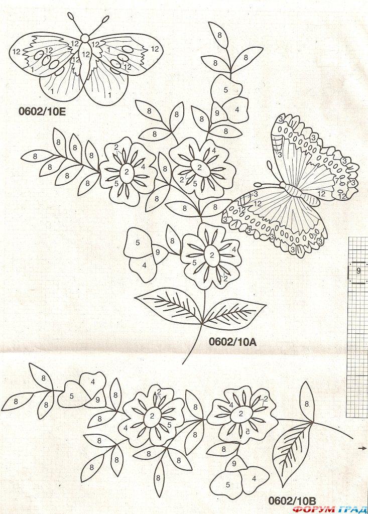 Вышивка цветочные мотивы 83