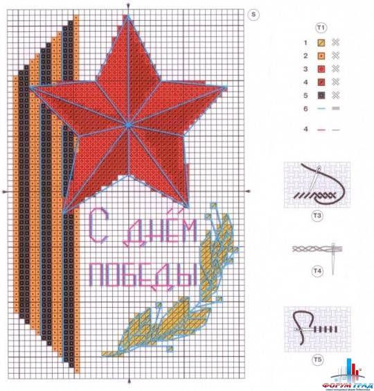 Схема георгиевской ленты вышивка