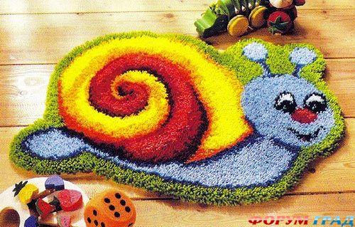 Вышивка в ковровой технике крючком