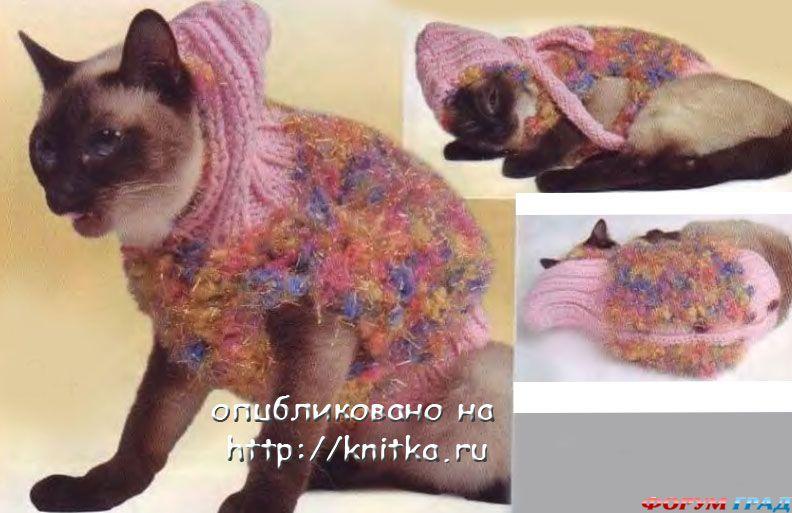 пушистый жилет для кошки