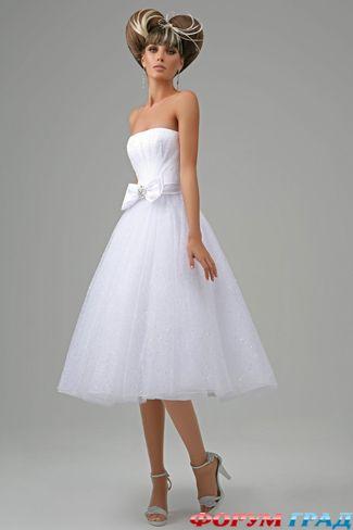свадебные платья по колено (28