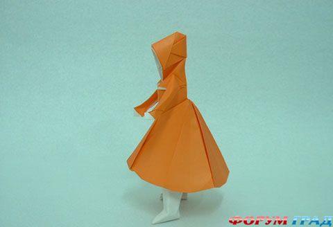 Оригами человек схема - хранилище с чертежами.  На нашем.