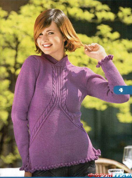Пуловер женский интересный фасон