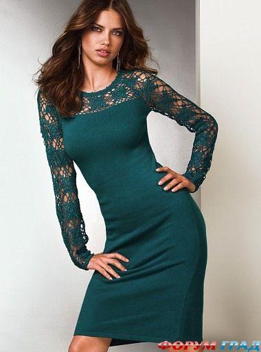 Вечернее платье с кружевным