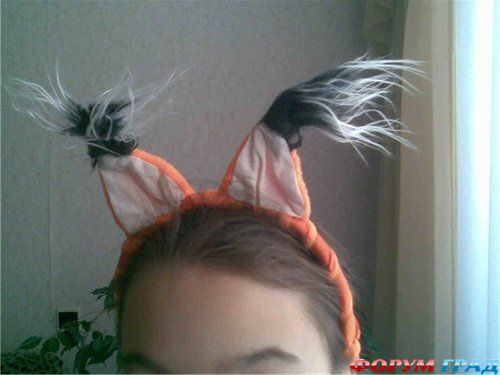 Как из волос сделать ушки белочки - БТЛ-страна
