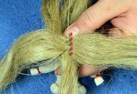 Как для куклы мотанки сделать волосы
