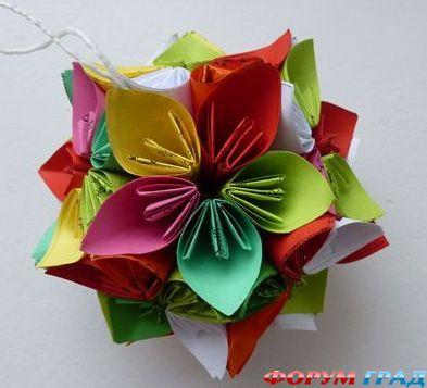 Как сделать бумажный цветок для нового года