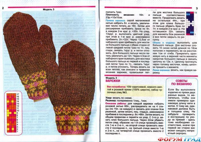 Схема на осень перчатки