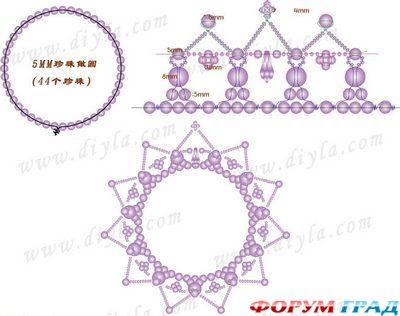 Вот такая корона из бисера тоже может украсить прическу невесты) .