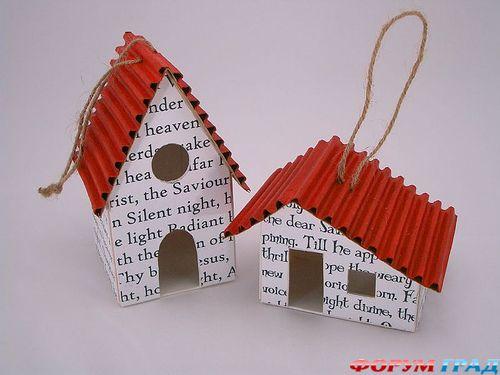 Игрушки из картона своими руками на новый год