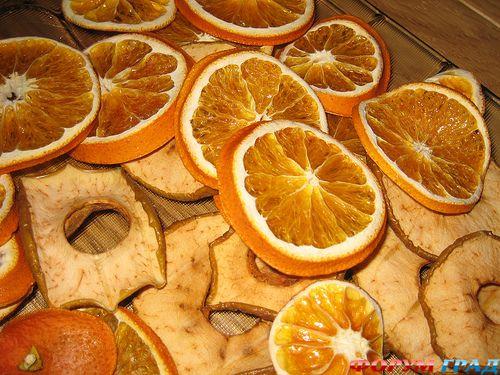 Сушеные апельсины в домашних условиях