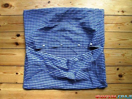 Подушки из рубашек мастер класс