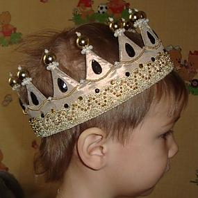 Детская корона своими руками фото