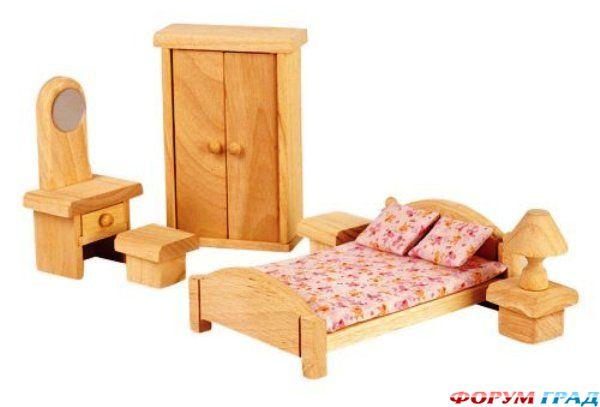 Кукольный домик шале с мебелью