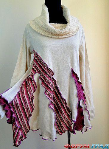 Белые женские свитера с горлом схема вязания и изображение свитера.