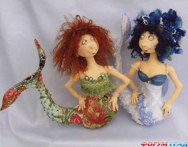 Кукла русалку своими руками