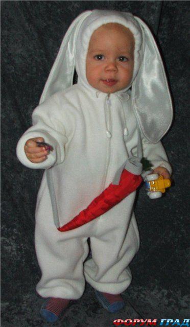 Как сшить костюм зайца своими руками для