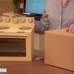 Детская печка из картона своими руками