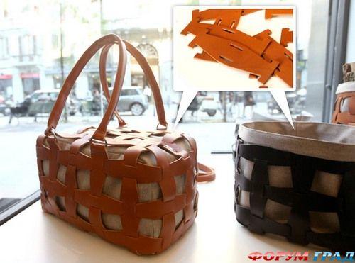 А вот для тех, кто не любит шить, можно посоветовать вот такую кожаную сумку из модулей.  Вы сможете собрать и...
