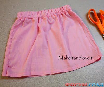 Сшить юбку на кокетке своими руками