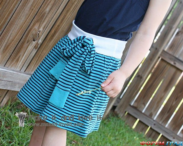Сшить юбку для младенца 90