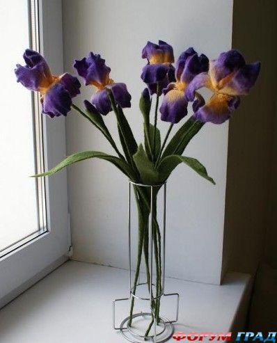 валяные цветы из шерсти фото