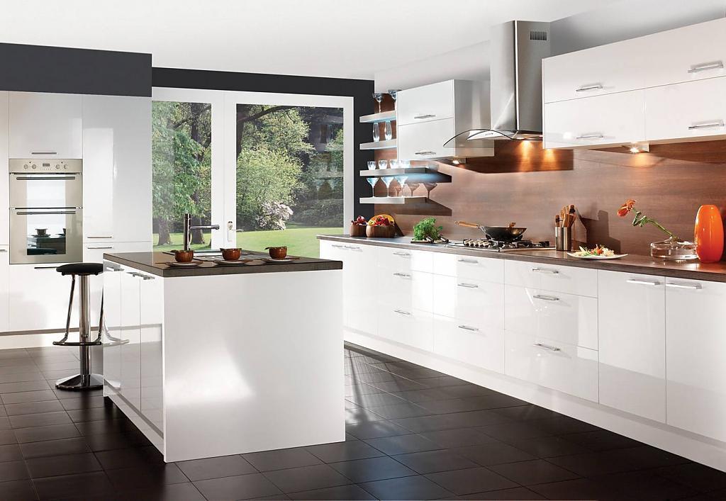 Глянцевые фасады для кухни фото