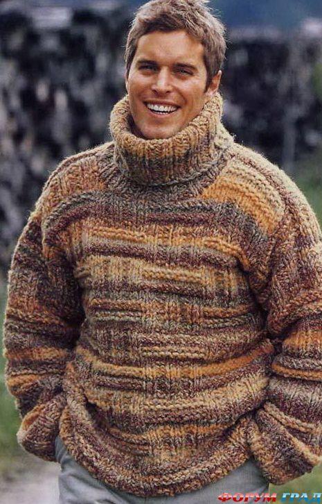 Мужской свитер. Для вязание