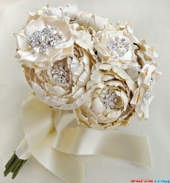 Оптом купить, свадебные букеты из ткани