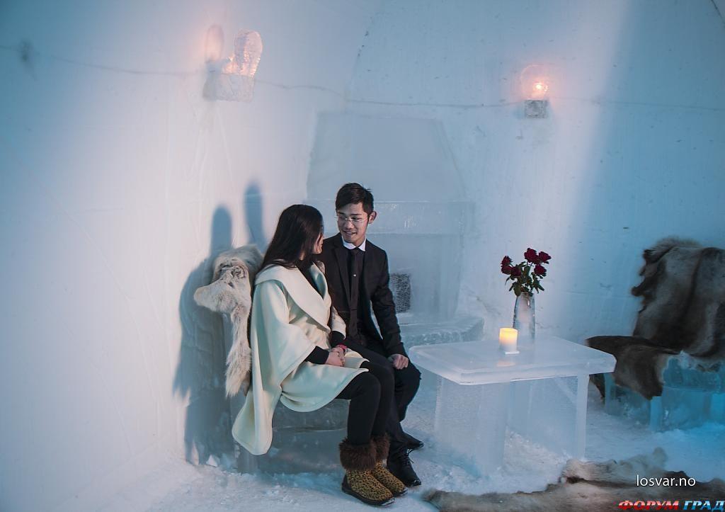 Романтическая атмосфера в отеле Sorrisniva Igloo