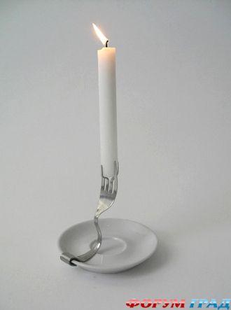 Высокие свечи своими руками