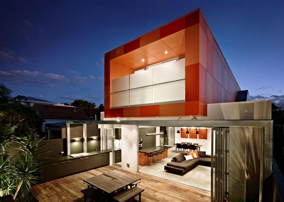 Коттедж в стиле минимализм: контрастный фасад и авангардистский интерьер