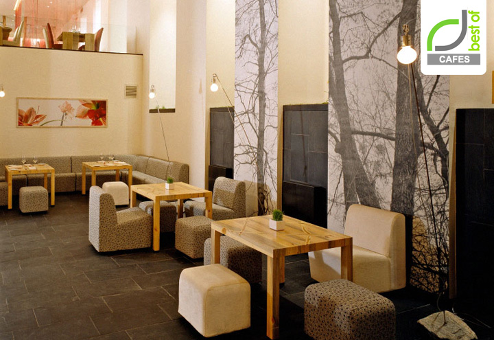 Яркое кафе Апрель в Москве