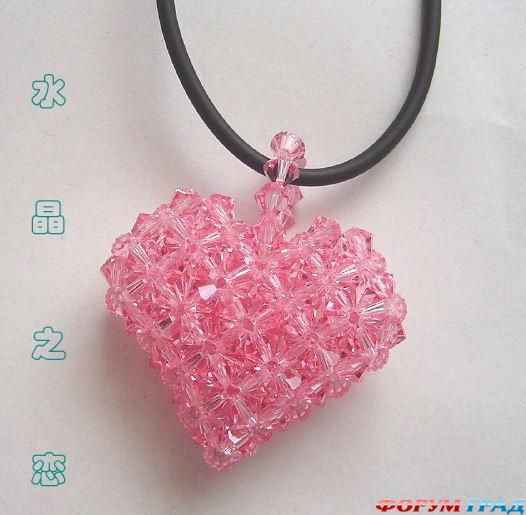 плетение сердце из бисера.