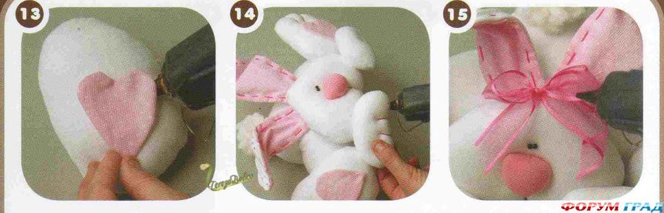 Сшить пасхальный кролик своими руками из