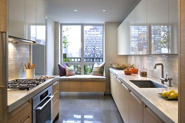 Ремонт прямоугольной кухни фото