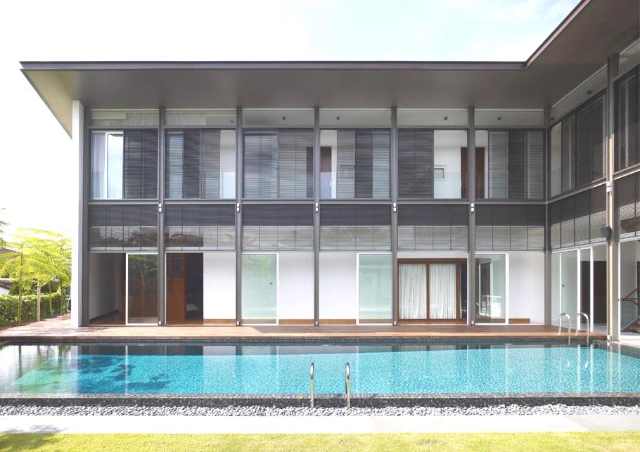 Дом П-образной формы: проект элитного особняка в Сингапуре